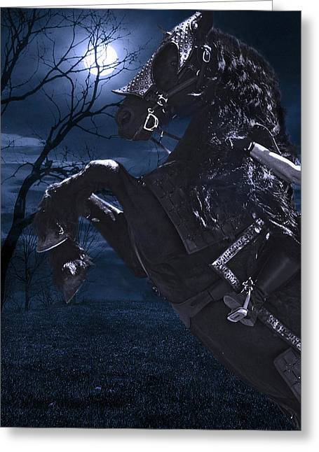 Moonlit Warrior D2110 Greeting Card by Wes and Dotty Weber