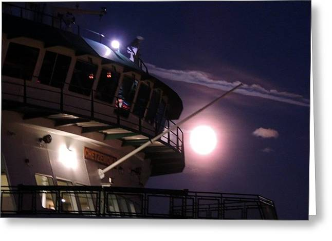 Keith Rautio Greeting Cards - Moonlite Ferry Bridge Greeting Card by Keith Rautio