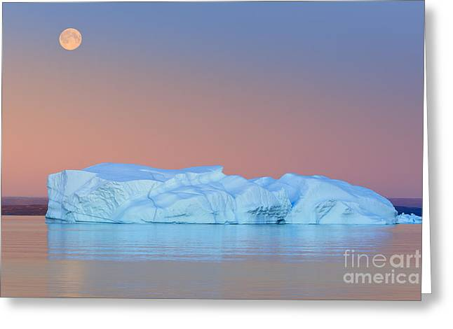 Moonrise Greeting Cards - Moonrise at Hall Bredning Greeting Card by Henk Meijer Photography