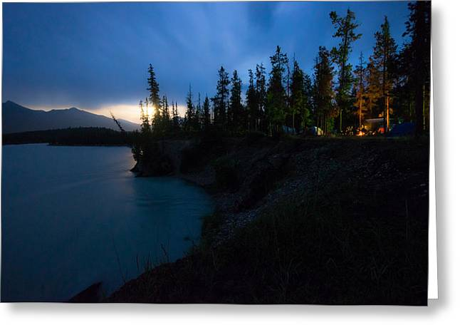 Sony Greeting Cards - Moonrise at Wabasso Campground Greeting Card by Cale Best