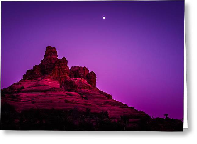Moonrise Bell  Greeting Card by Buffalo fawn Photography