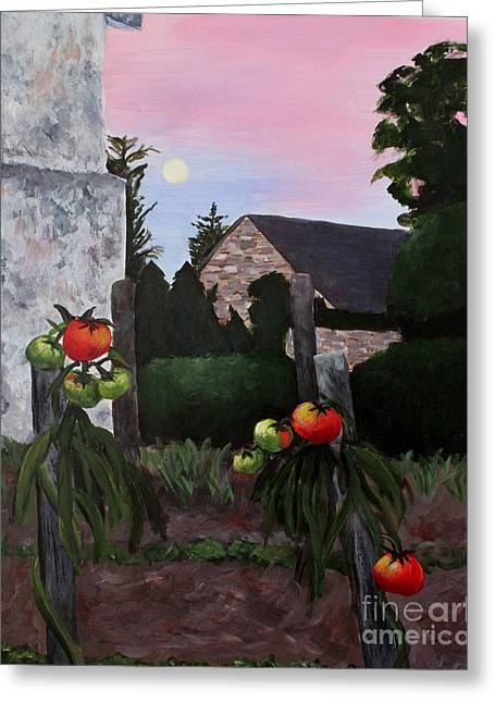 Linda Queally Greeting Cards - Moonrise Over Frontenay Greeting Card by Linda Queally