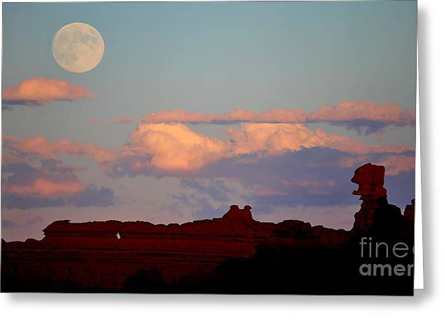 Moonrise Greeting Cards - Moonrise Over Goblins Greeting Card by Marty Fancy