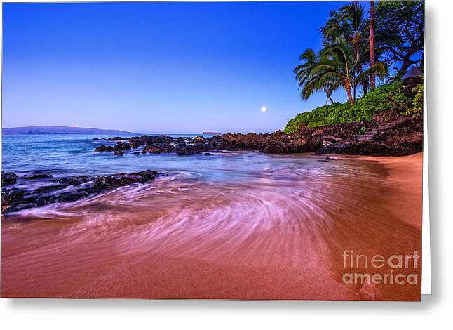 Moonrise Greeting Cards - Moonrise over Maui Greeting Card by Jamie Pham