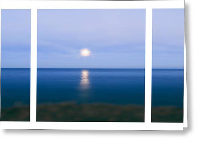 Limitless Greeting Cards - Moonrise Greeting Card by Sabine Jacobs