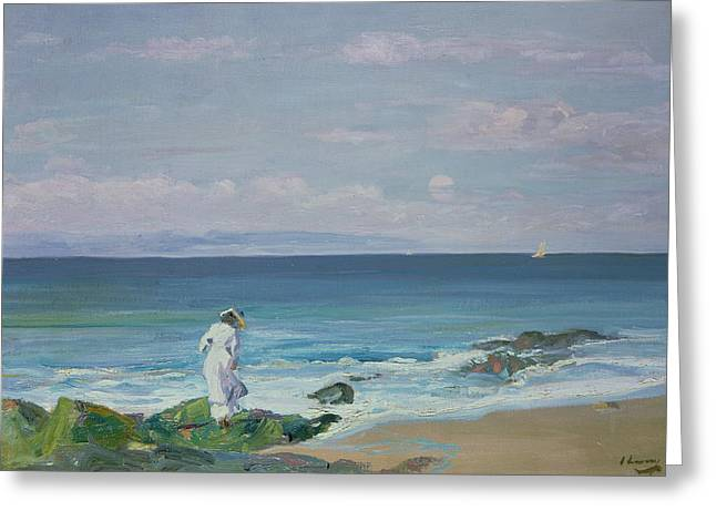 Moonrise Greeting Card by Sir John Lavery