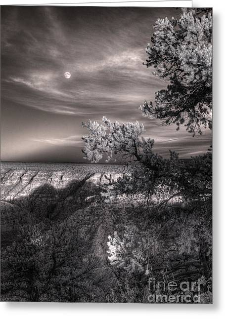 Moonrise Greeting Cards - Moonrise South Rim Greeting Card by William Fields