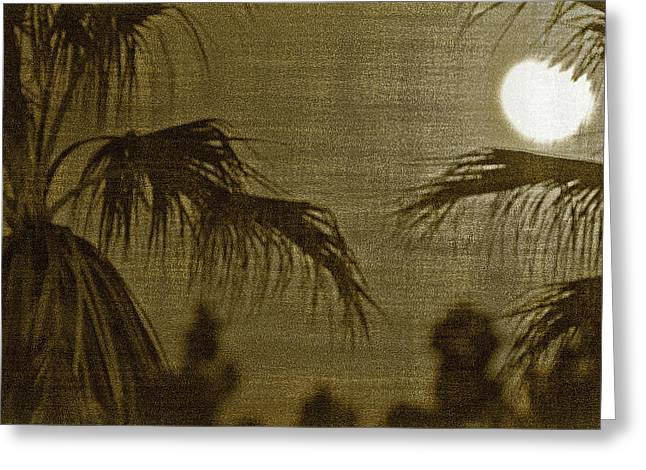 Rustic Colors Greeting Cards - Moons Glow Greeting Card by Gilbert Artiaga