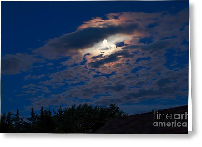 Man In The Moon Greeting Cards - Moonscape Greeting Card by Robert Bales
