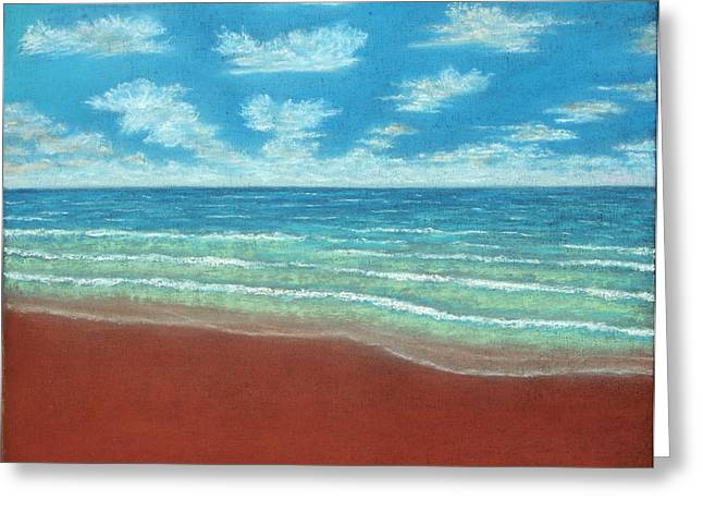 Panoramic Ocean Pastels Greeting Cards - Moonset B Greeting Card by Michael Heikkinen