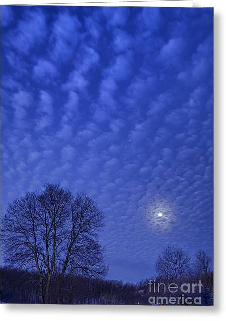Outbuildings Greeting Cards - Moonset over Mountains Greeting Card by Thomas R Fletcher