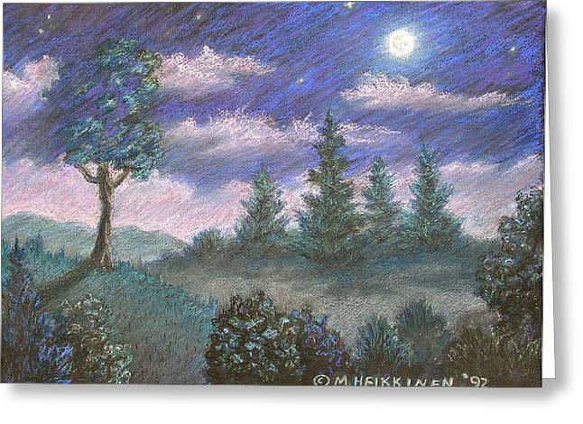 Moonshadow Greeting Cards - Moonshadow Greeting Card by Michael Heikkinen