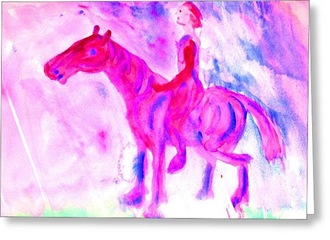 Free Will Greeting Cards - Moonshine Ride Greeting Card by Hilde Widerberg