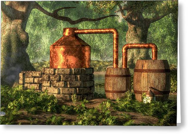 Boots Digital Greeting Cards - Moonshine Still 2 Greeting Card by Daniel Eskridge