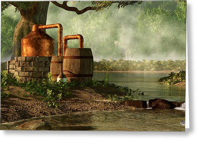 Boots Digital Greeting Cards - Moonshine Still 3 Greeting Card by Daniel Eskridge
