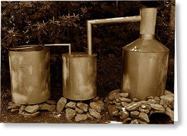 Moonshine Greeting Cards - Moonshine Still Greeting Card by David Lee Thompson