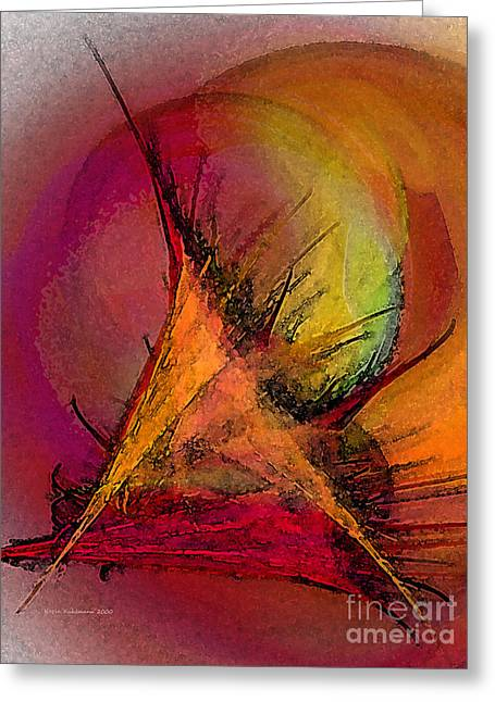 Querformat Greeting Cards - Moonstruck-Abstract Art Greeting Card by Karin Kuhlmann
