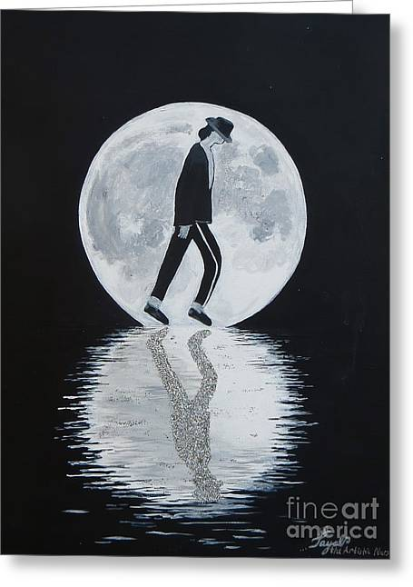 Moonwalker Greeting Card by Artistic Indian Nurse