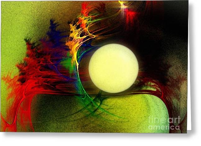Abstract Expression Greeting Cards - Moony Greeting Card by Karin Kuhlmann