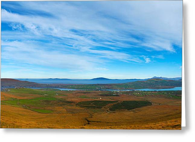 Days Pass Greeting Cards - Moor Landscape Of Coomanaspig Pass Greeting Card by Panoramic Images