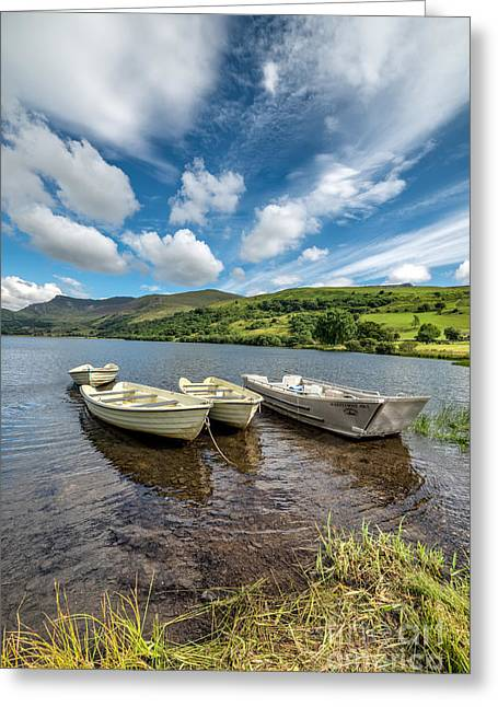 Rope Greeting Cards - Moored Boats  Greeting Card by Adrian Evans