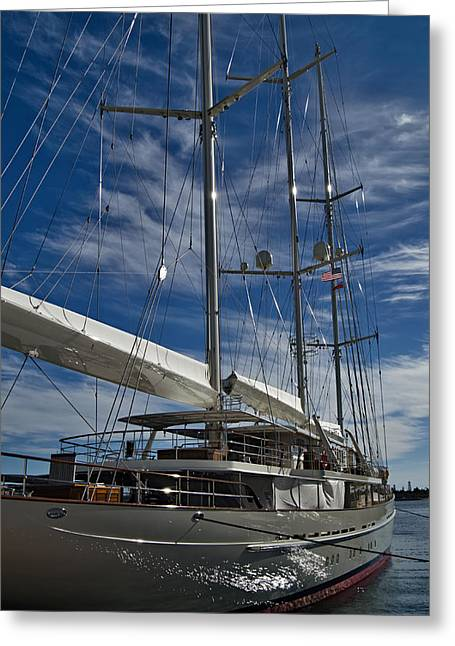 San Diego Harbor Cruise Greeting Cards - Moored Greeting Card by See My  Photos
