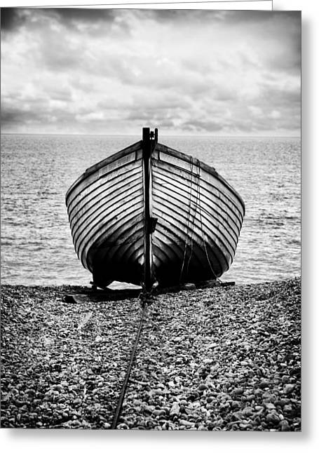 Wooden Boat Greeting Cards - Moored Greeting Card by Mark Rogan
