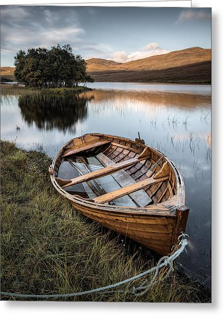 Scottish Landscapes Greeting Cards - Moored on Loch Awe Greeting Card by Dave Bowman
