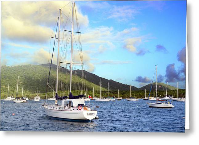 Moored to Relax Greeting Card by Michael Glenn