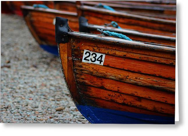 Row Boat Greeting Cards - Moored Up Greeting Card by Martin Newman