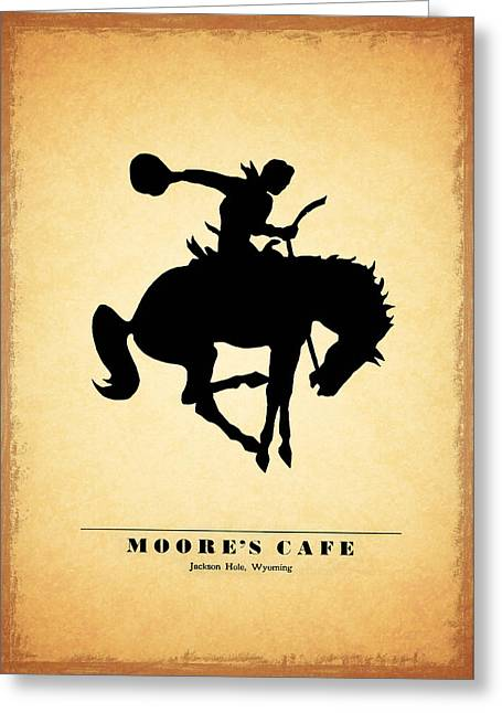 Menu Photographs Greeting Cards - Moores Cafe Wyoming 1946 Greeting Card by Mark Rogan