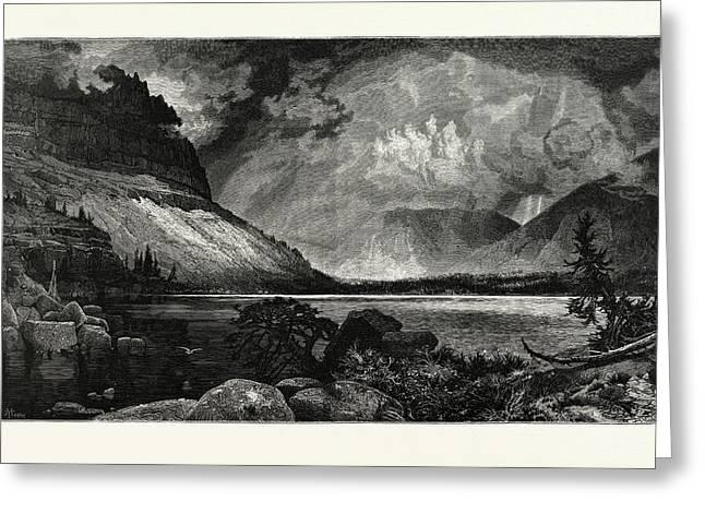 Moores Lake, Utah.  Thomas Moran February 12 Greeting Card by American School