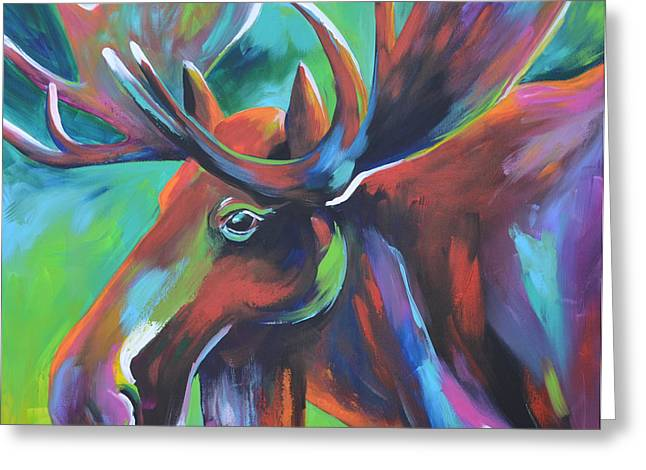 Moose Greeting Card by Cher Devereaux