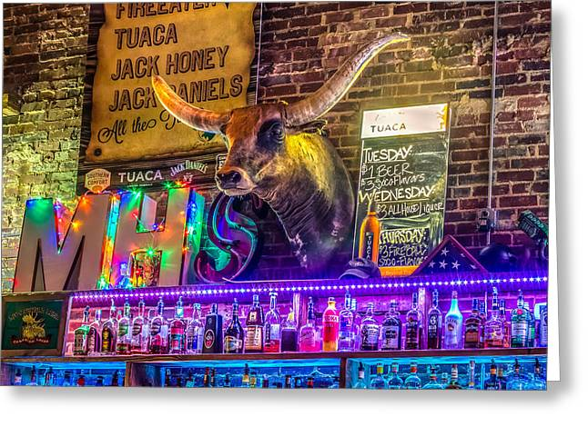 Moose Head Saloon II Greeting Card by Rob Sellers