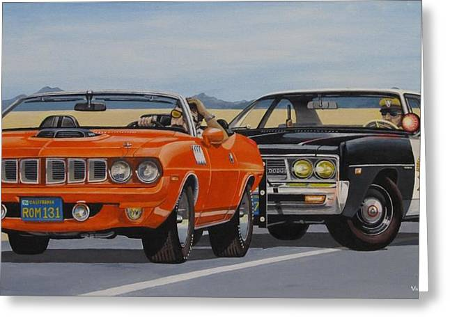 Police Cruiser Greeting Cards - Mopar Authority Greeting Card by Robert VanNieuwenhuyze