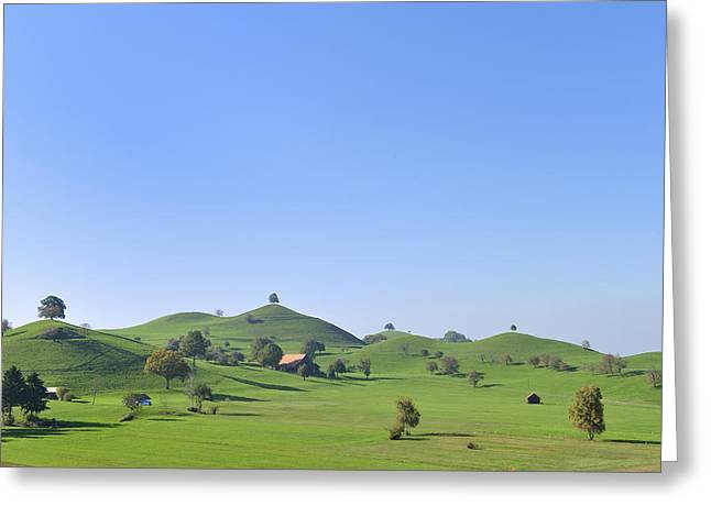 Zug Greeting Cards - Moraine Hill Landscape Switzerland Greeting Card by Thomas Marent