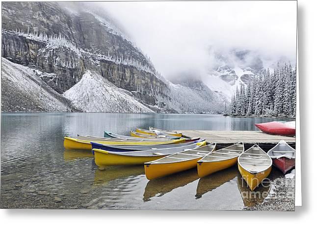 Alberta Framed Prints Greeting Cards - Moraine Lake 2 Greeting Card by Wendy Elliott