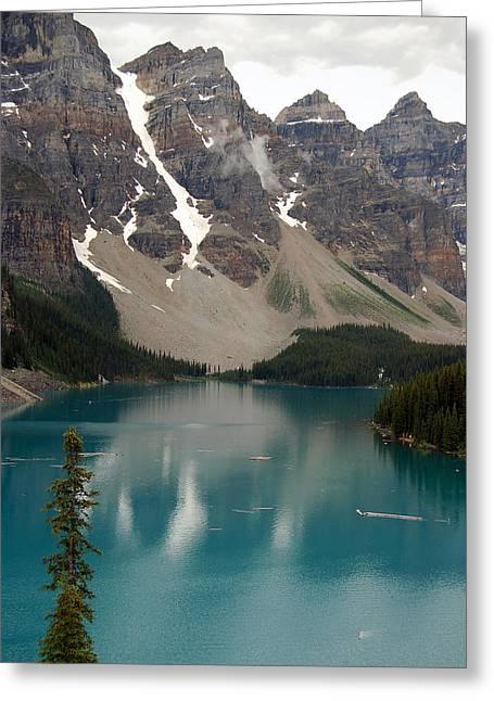 Alberta Greeting Cards Greeting Cards - Moraine Lake - Alberta - Canada Greeting Card by RicardMN Photography