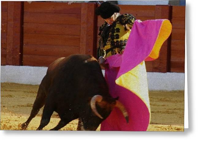 Toreador Paintings Greeting Cards - Morante de la Puebla  Greeting Card by Bruce Nutting