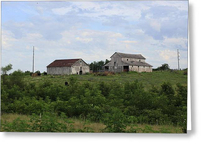 Moravia Greeting Cards - Moravia Barns Greeting Card by Anthony Cornett