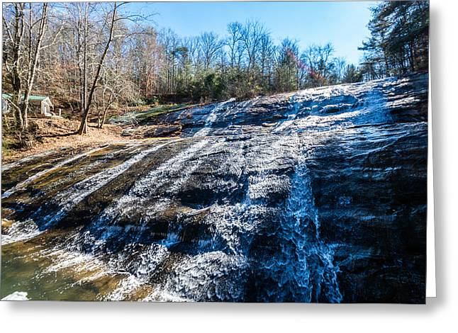 Moravian Greeting Cards - Moravian Falls Greeting Card by Randy Scherkenbach