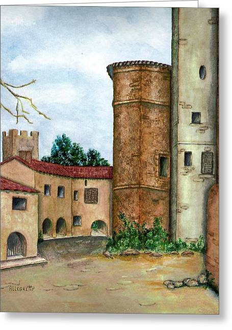 Southern Italy Greeting Cards - Morcone  Greeting Card by Pamela Allegretto
