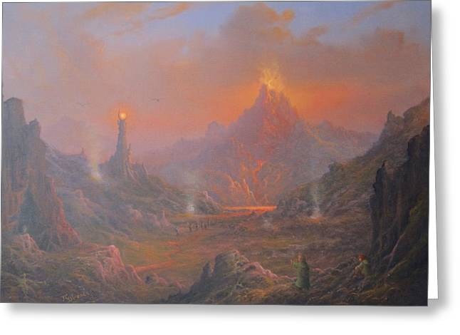 Elven Greeting Cards - Mordor Land Of Shadow Greeting Card by Joe  Gilronan
