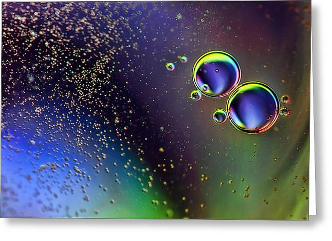 Oil Slick Greeting Cards - More Bubbles Greeting Card by EXparte SE