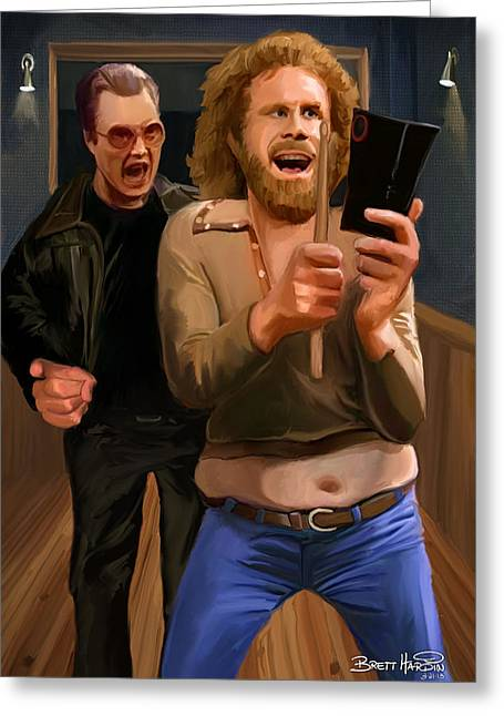 More Cowbell Greeting Card by Brett Hardin