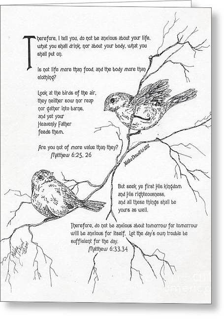 Barn Pen And Ink Greeting Cards - More Important Than Birds Greeting Card by Meldra Driscoll