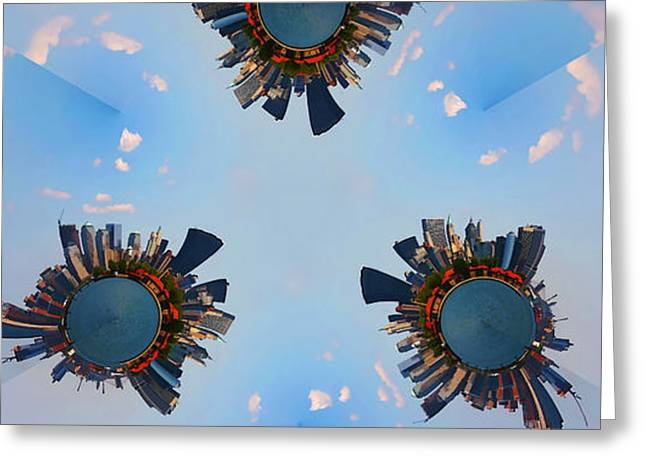 More Manhattans Greeting Card by Joanna Madloch