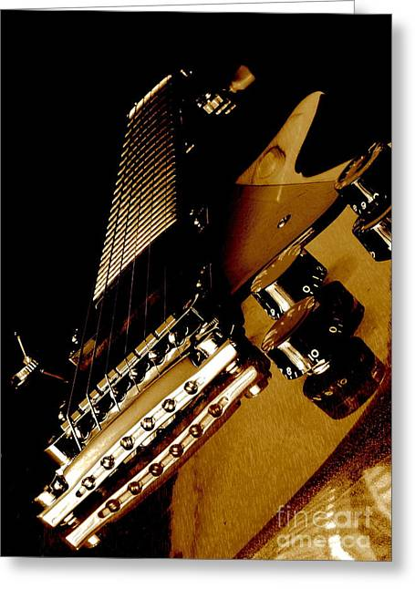 Fretboard Greeting Cards - More Or Les Greeting Card by Robert Frederick
