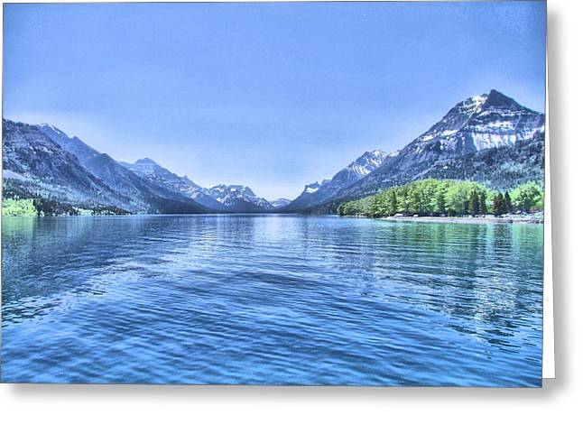 George Cousins Greeting Cards - More Shades of Blue Greeting Card by George Cousins