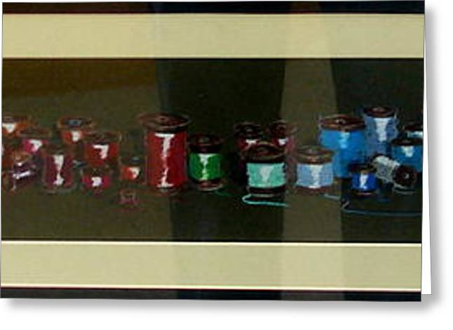 Apparel Greeting Cards - More Spools Greeting Card by Joseph Hawkins
